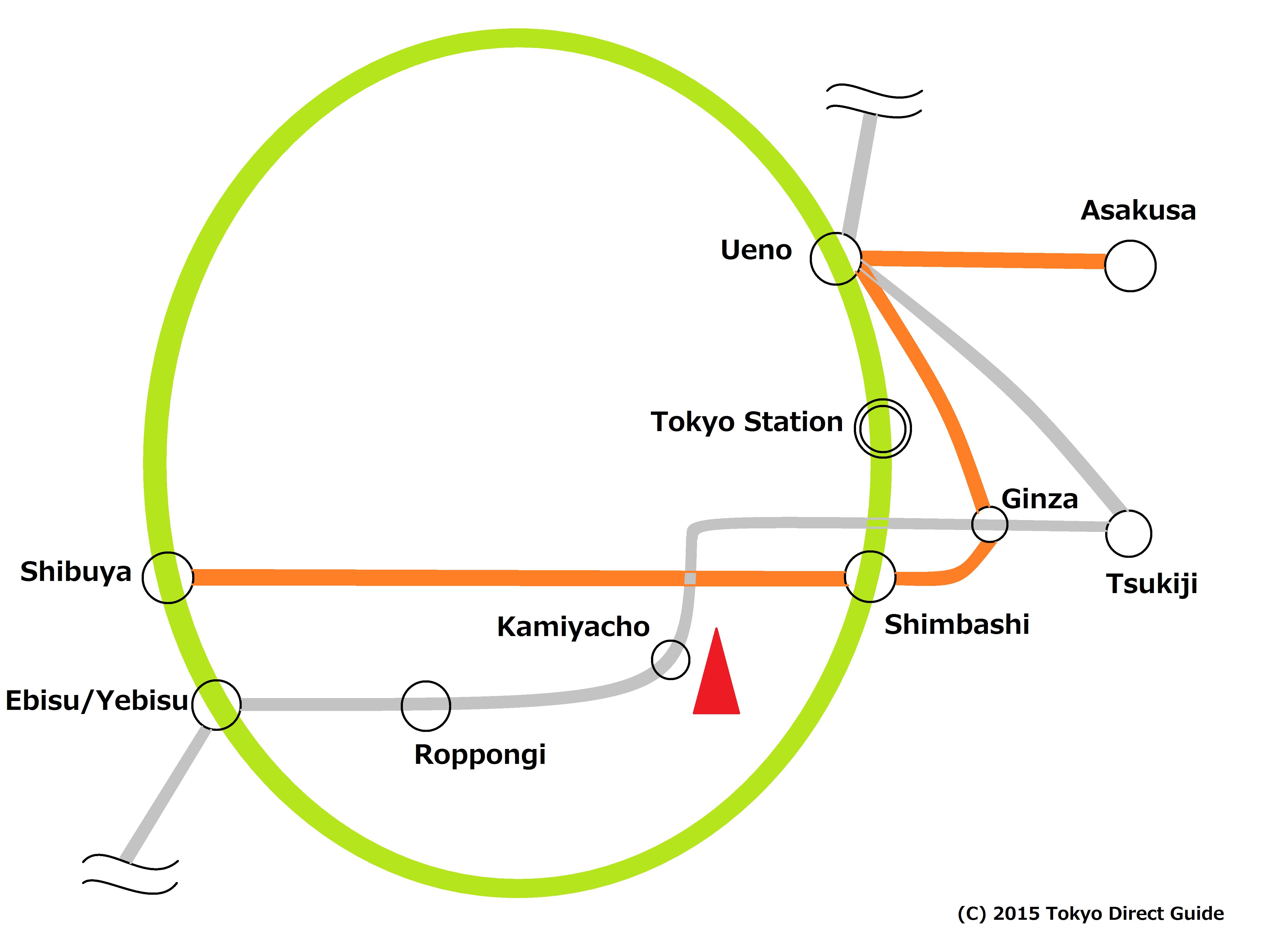 Ginza Subway Line Map